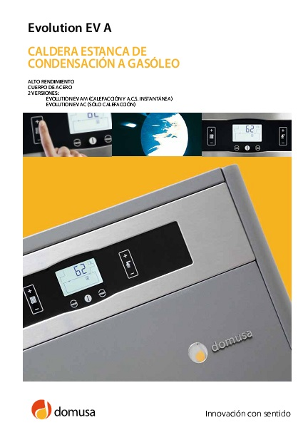Catalogo Caldera  Domusa Evolution EV A