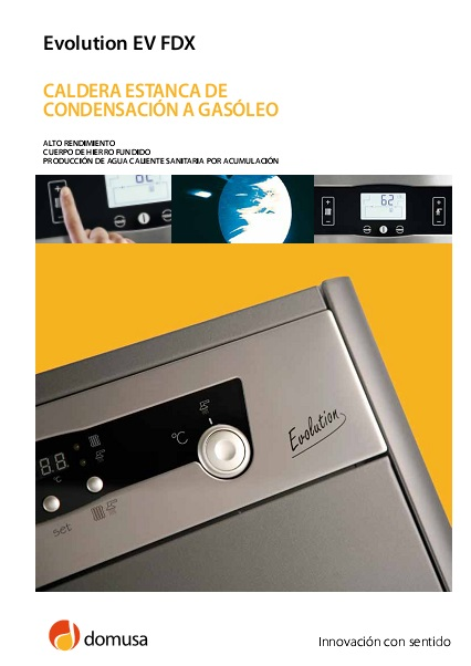 Catalogo Caldera  Domusa Evolution EV FDX
