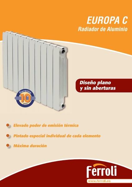 Catalogo radiadores Ferroli Europa