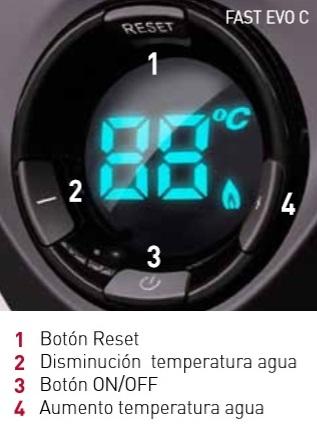 Control calentador Ariston FAST EVO C