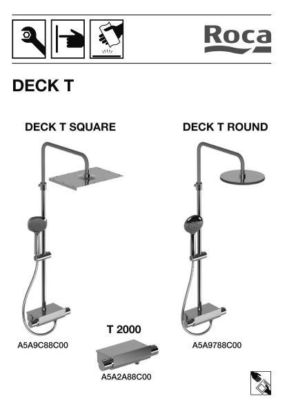 ducha deck round ficha