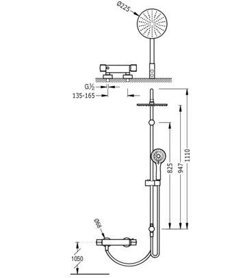 sistema ducha lexecoterm medida