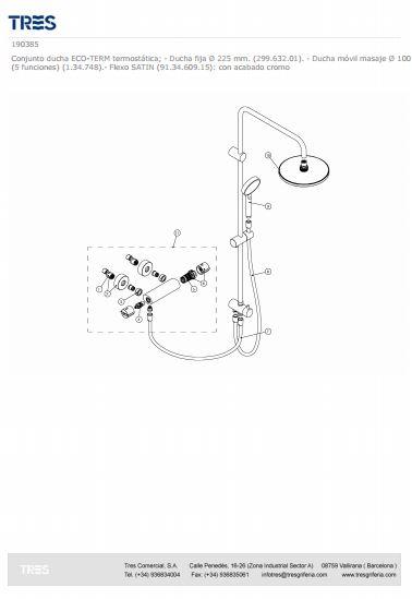 sistema ducha lexecoterm recambio