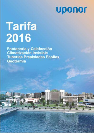 tarifa uponor 2016