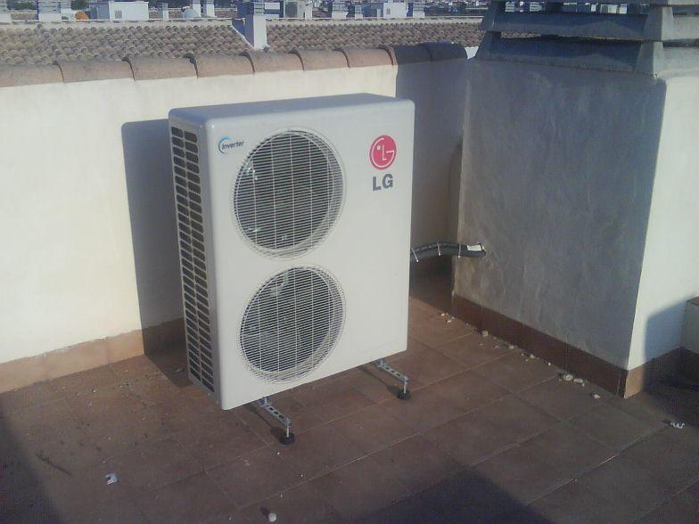 unidad exterior LG aire acondicionado