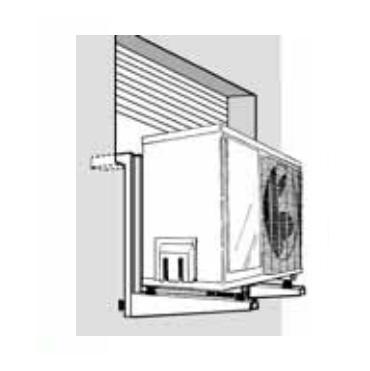 Soporte para aire acondicionado Bajo Ventana - instalación