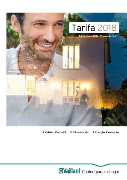 Catalogo tarifa Vaillant 2018