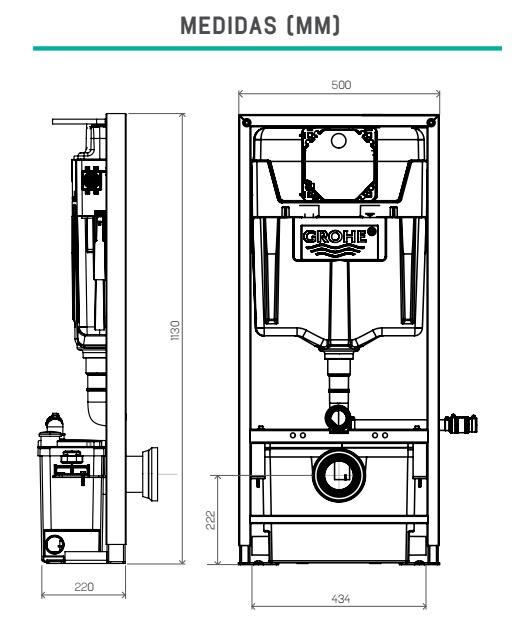 Bastidor con triturador integrado sfa saniwall pro up - Inodoro con triturador ...