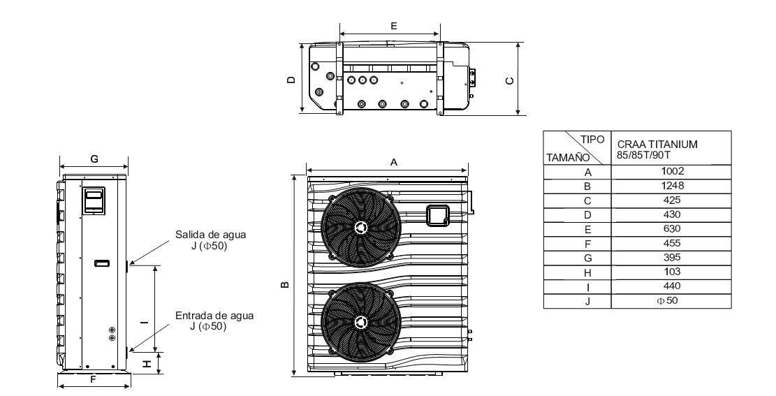 Bombas de calor para piscinas daitsu craa titanium 85 - Bombas de calor piscinas ...