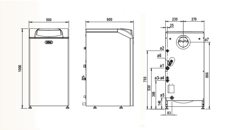 Caldera de gasoil ferroli silent rk 25 sistema de aire for Instrucciones caldera roca
