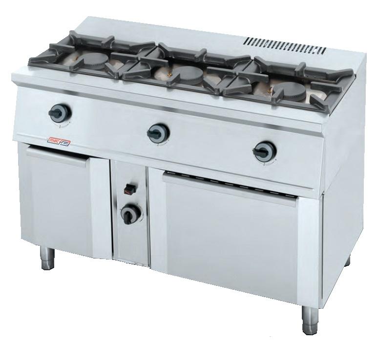 Cocina con horno a gas eurast 3301 3 3 fuegos - Cocina gas 3 fuegos ...