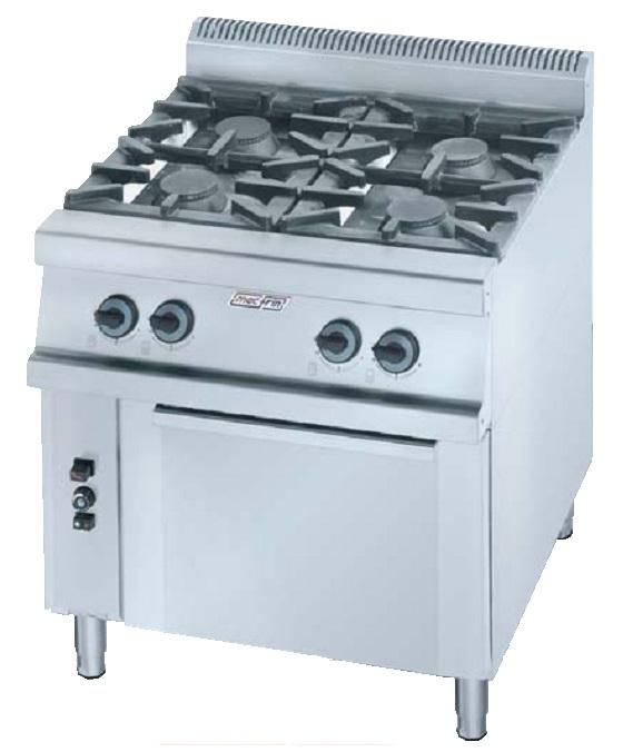 Cocina con horno a gas eurast 3501e 4 fuegos - Cocina con horno ...