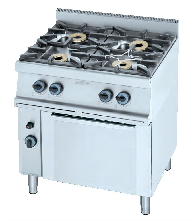 Cocina con horno a gas eurast 3302 4 fuegos - Cocina con horno ...