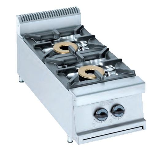 Cocina de sobremesa eurast 3406s 6 fuegos for Cocina de gas de dos fuegos