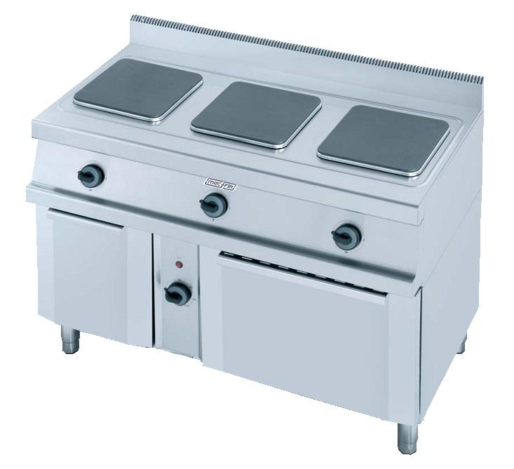 Cocina con horno el ctrica eurast 3308 3 fuegos for Cocinas electricas con horno
