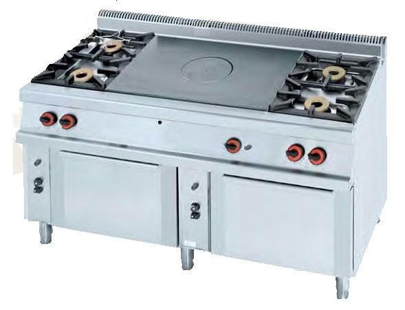 Cocina plancha a gas eurast 5011 3 fuegos - Plancha para cocina a gas ...