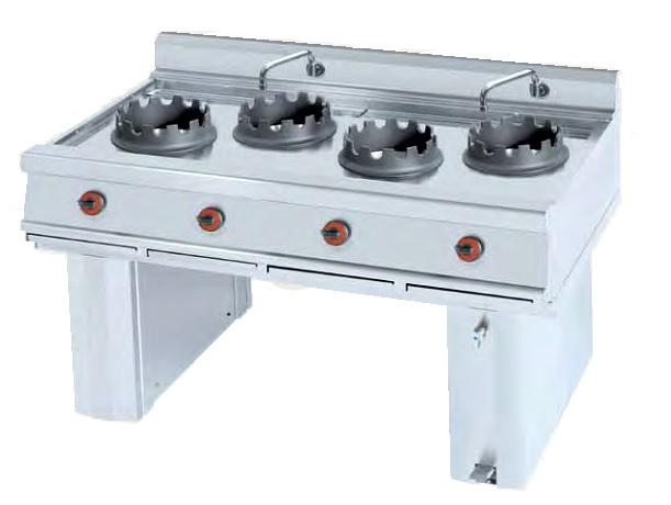 Cocina wok a gas eurast 3412 3 fuegos for Cocina wok industrial