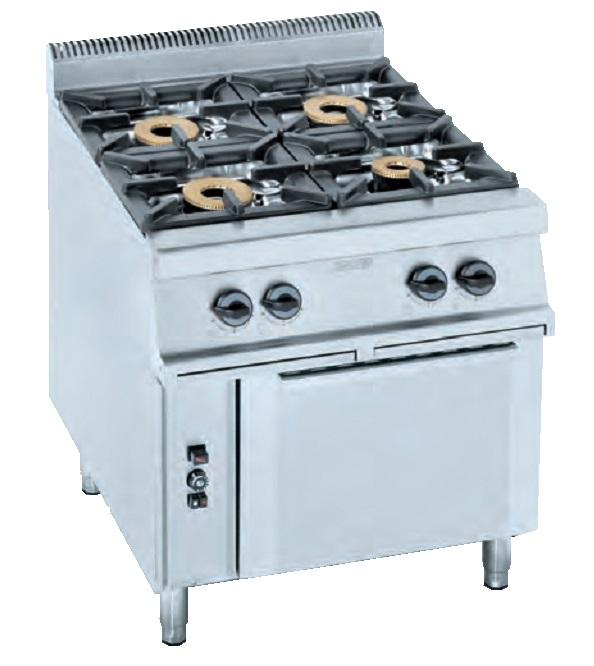 Cocina con horno eurast 3401 4 fuegos for Cocina 4 fuegos con horno a gas