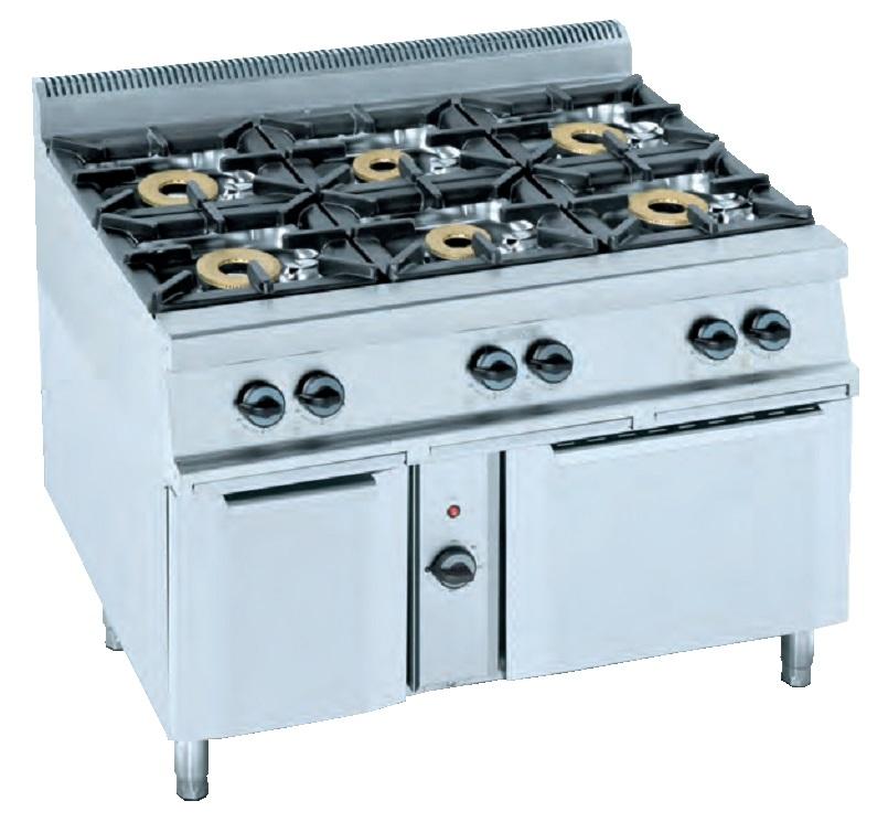 Cocina con horno eurast 3402 6 fuegos - Cocina con horno ...