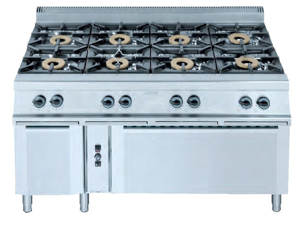 Cocina con horno eurast 3493 8 fuegos - Cocina con horno ...