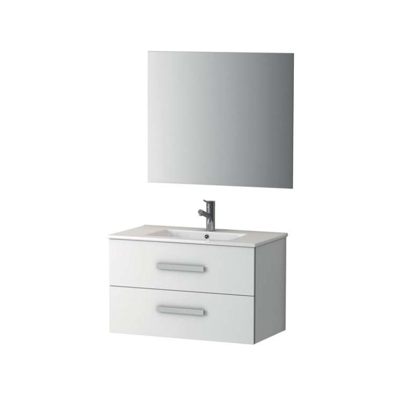 Conjunto mueble de ba o alterna pirineos 80cm blanco for Conjunto sanitarios bano