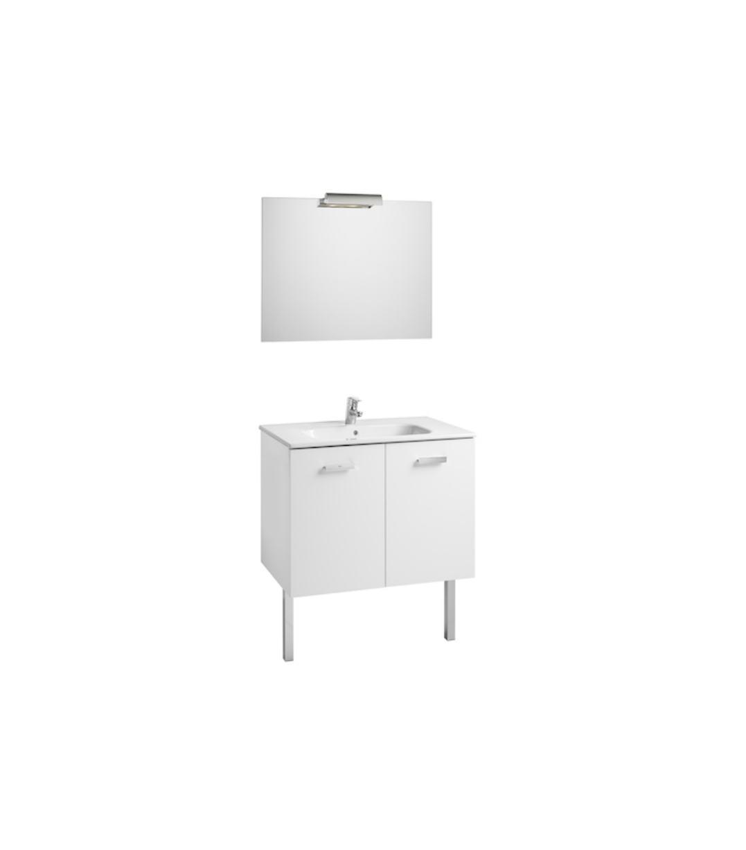 Conjunto mueble de ba o roca victoria basic 80x46 blanco for Muebles bano roca precios