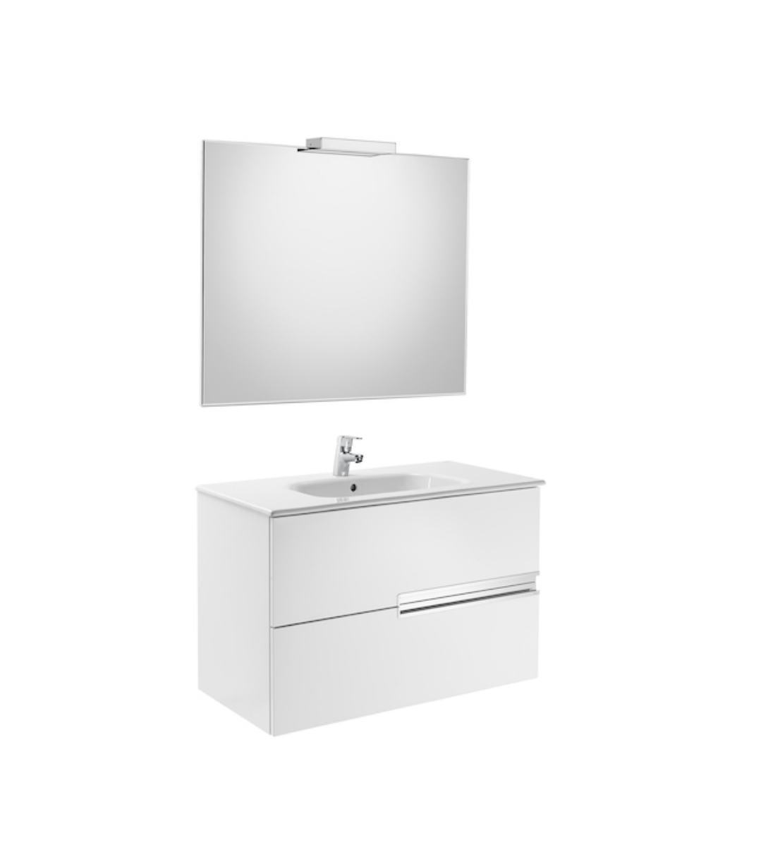 Conjunto mueble de ba o roca victoria n 80x46 blanco for Muebles bano roca precios