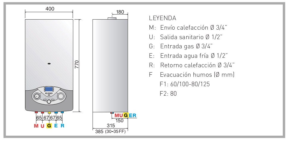 Caldera a gas de condensaci n ariston clas premium evo 24 ff for Ariston clas premium 24