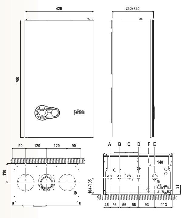 Caldera a gas de condensaci n ferroli bluehelix pro s 27 slim for Cuanto cobran por instalar una caldera de gas
