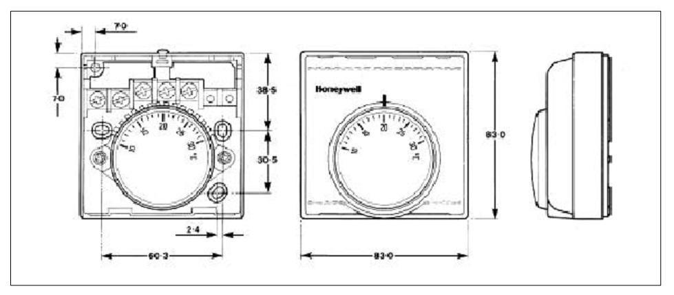 Termostatos de ambiente serie mt200 honeywell t4360 t4360b1007 for Termostato analogico calefaccion