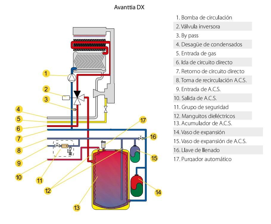 Caldera de pie a gas de condensaci n domusa avanttia 25 hdx - Caldera mixta gas ...