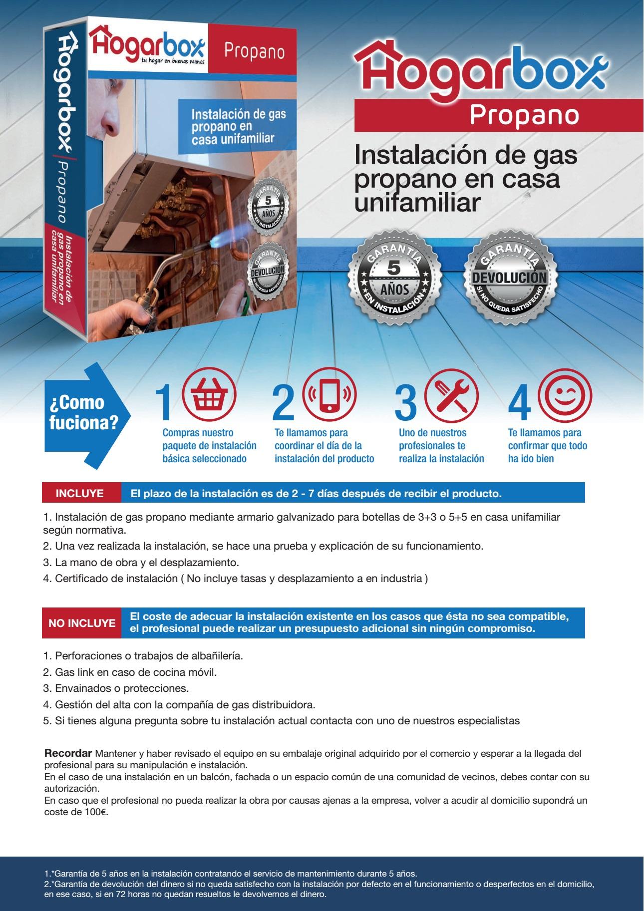 Hogarbox propano precio instalaci n gas propano for Calderas de gas propano