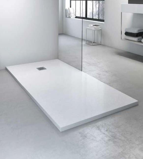 Plato de ducha resina alterna vulcano 70 x 100 cm for Instalar plato ducha resina
