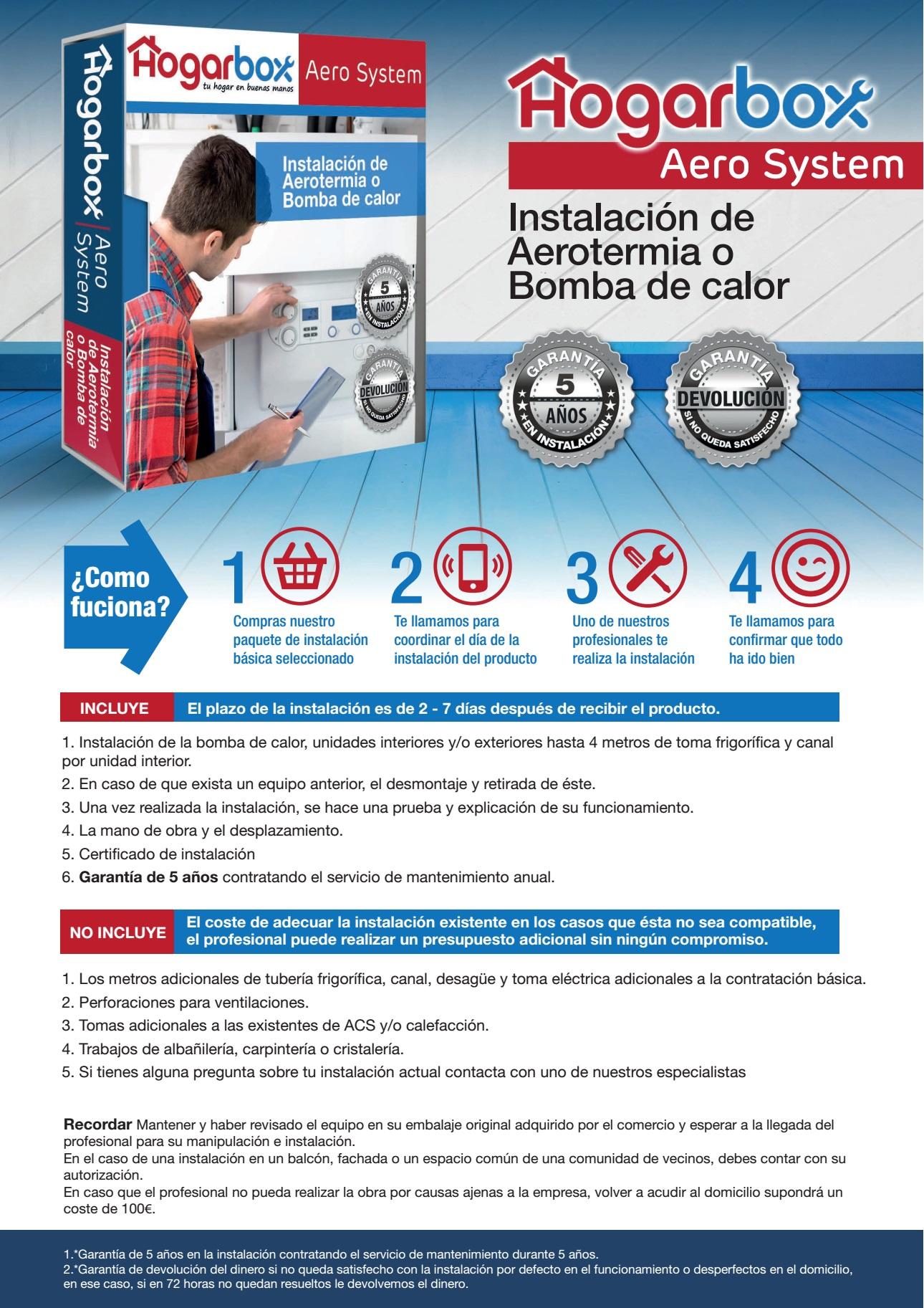 Hogarbox aero system instalaci n de aerotermia o bomba de - Calefaccion bomba de calor precio ...