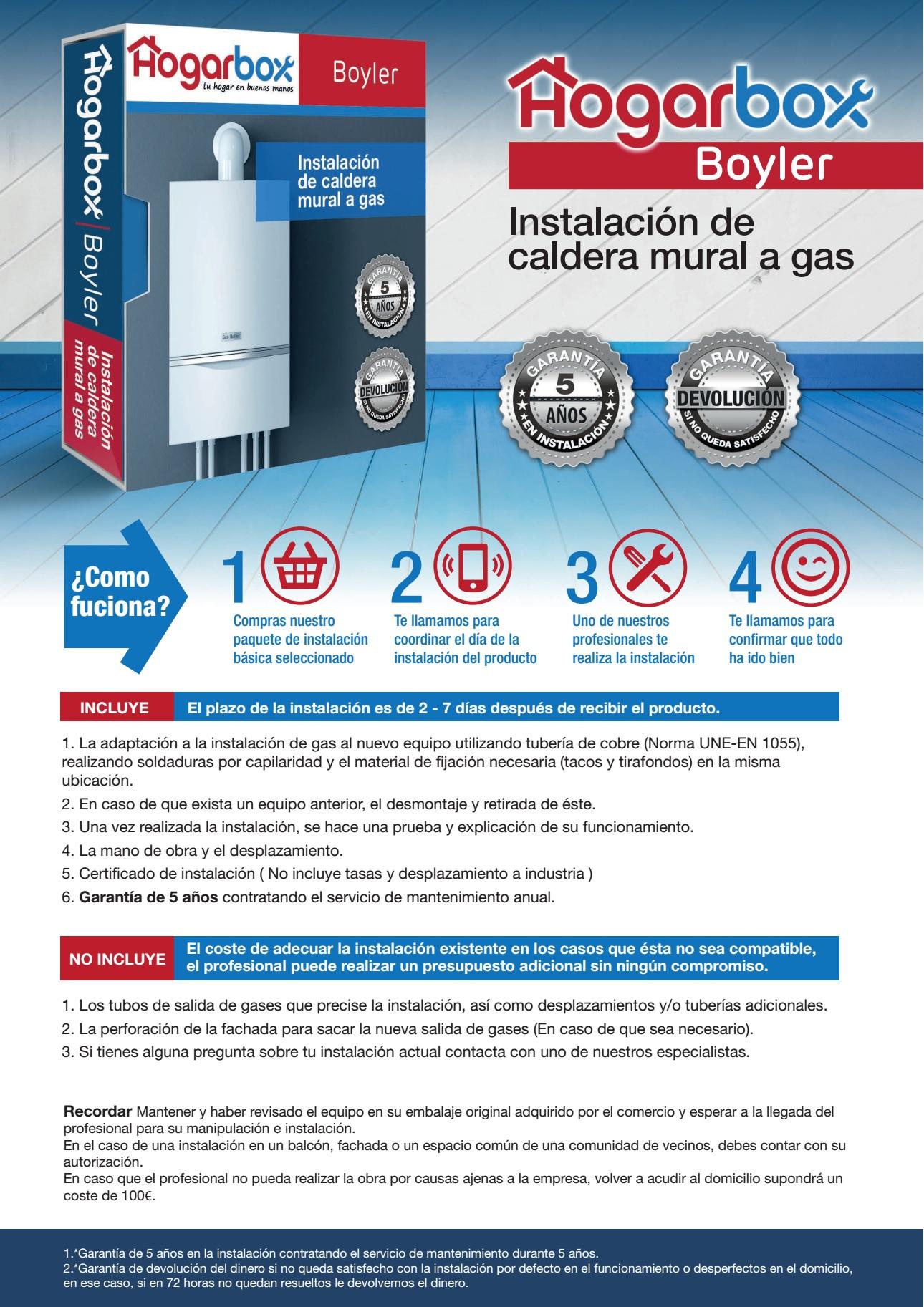 hogarbox boyler instalaci n caldera a gas precios y ofertas