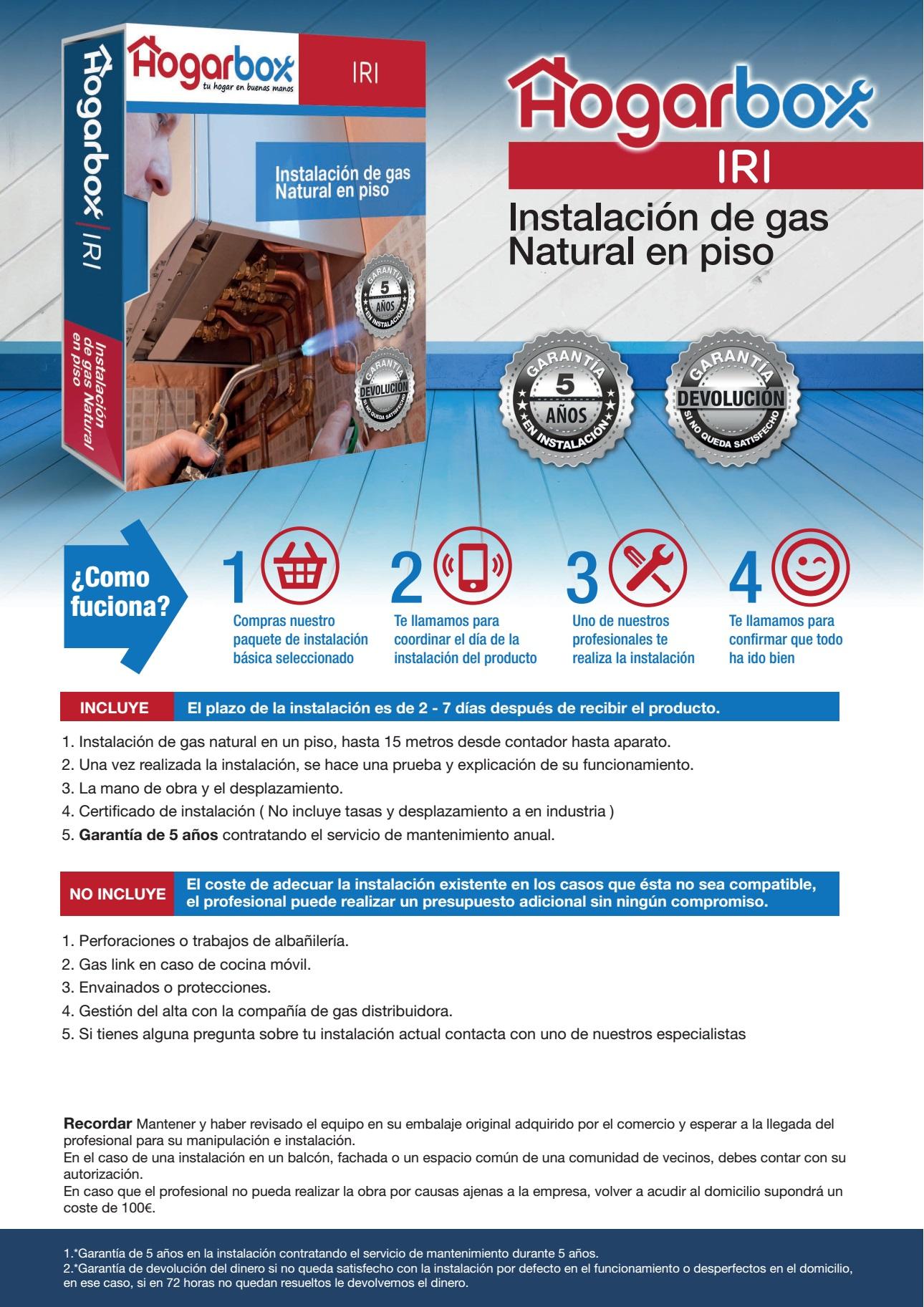 Hogarbox Iri Instalaci N De Gas Natural En Piso Precios Y Ofertas  ~ Precio Instalacion Suelo Radiante