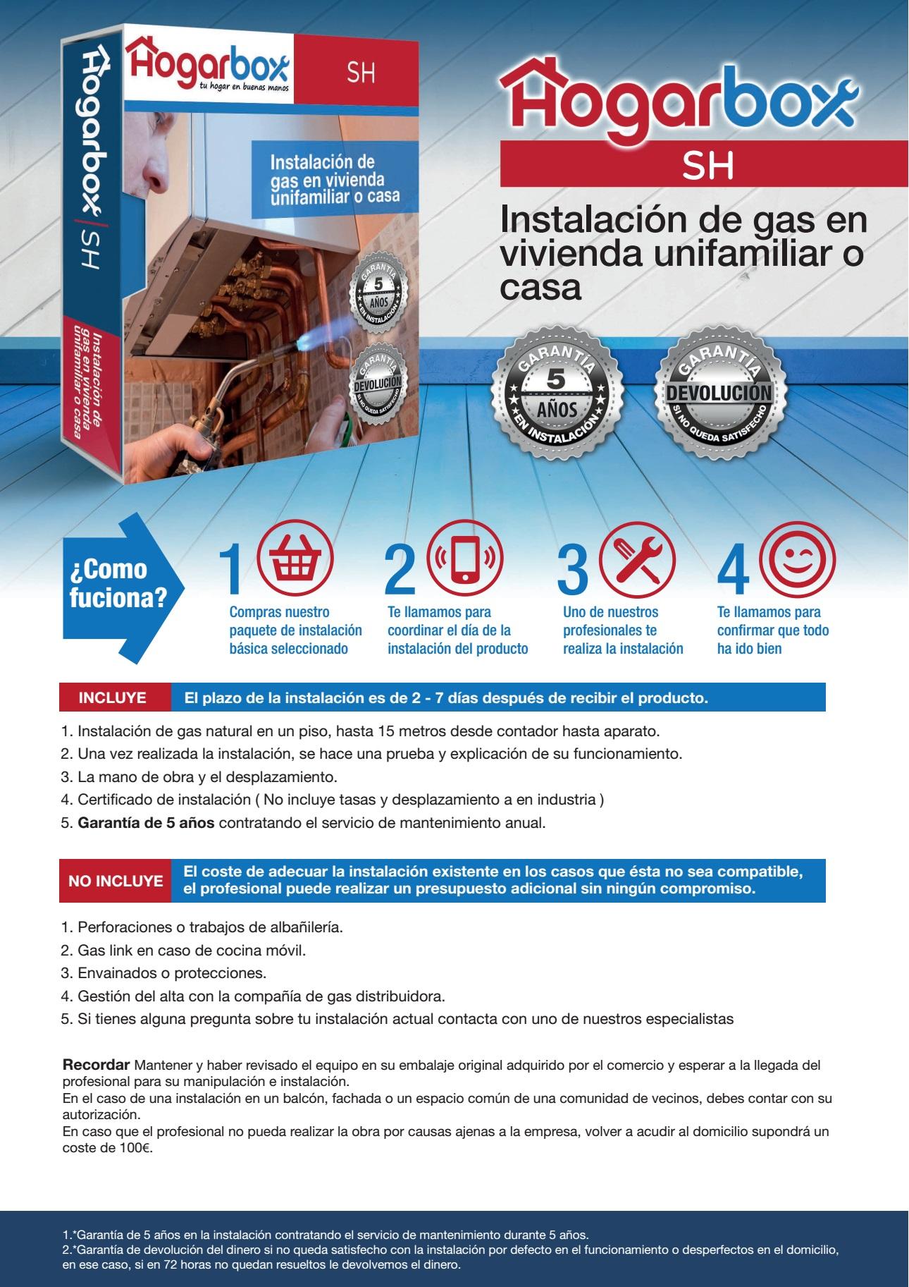 Hogarbox sh precio instalaci n gas natural vivienda for Gas natural en casa