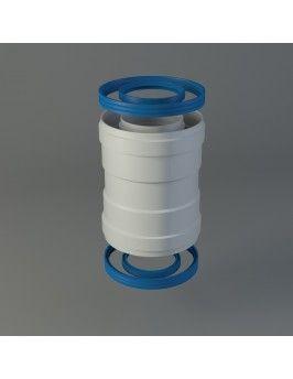Manguito coaxial unión tubos 60/100 H/H Fig