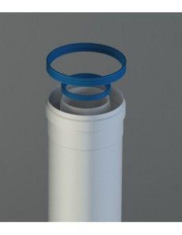 Tubo coaxial de aluminio 80/125x500 M/H Fig