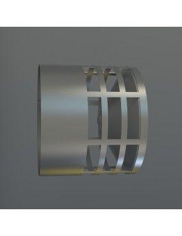 Deflector de inox con evacuación horizontal 60 Fig