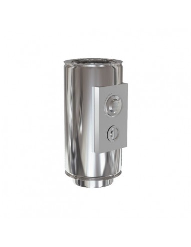 Tubo control de humos doble inox 304-304 100/150 Practic
