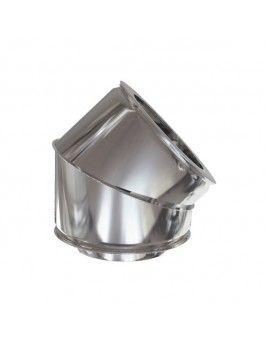 Codo 45º doble inox 316-304 150/200 Practic