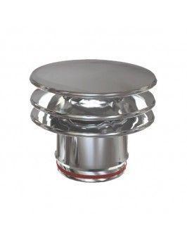 Sombrerete pared simple inox 304 125 Practic