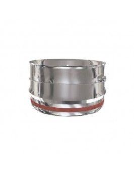 Tramo recoge-condensados pared simple inox 316 125 Practic