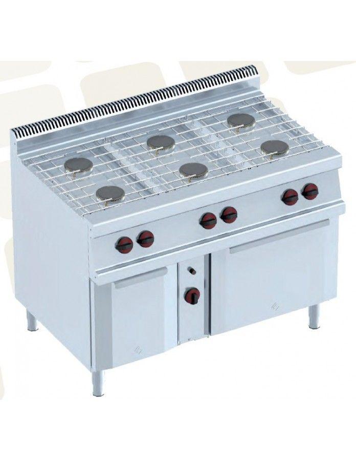 Cocina con Horno a Gas Eurast Serie 2 3502/2 6 fuegos