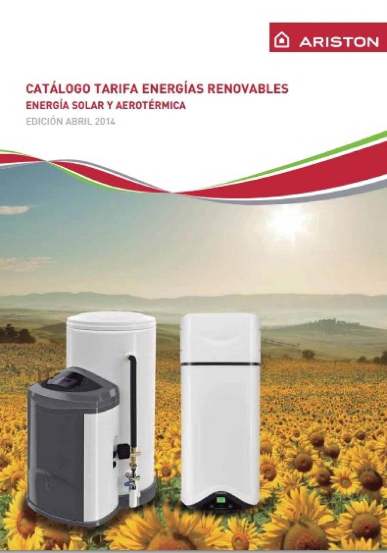 Tarifa Ariston Energías Renovables 2014