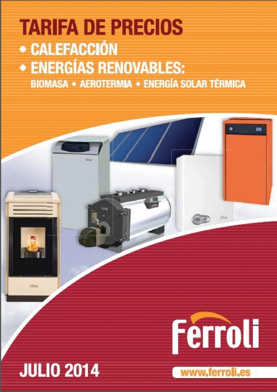 Tarifa de precios calderas Ferroli 2014