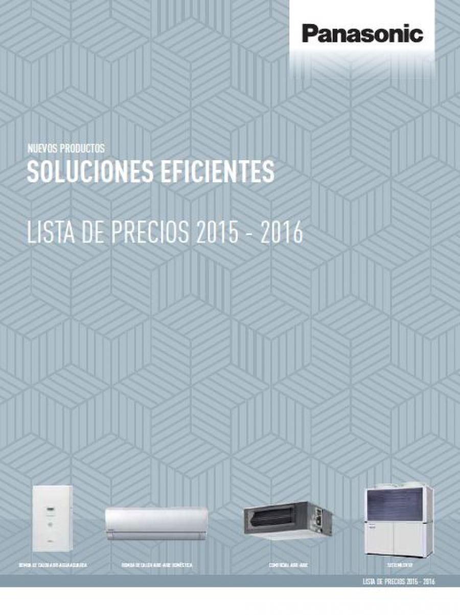 Tarifa 2015 de Panasonic: Soluciones eficientes