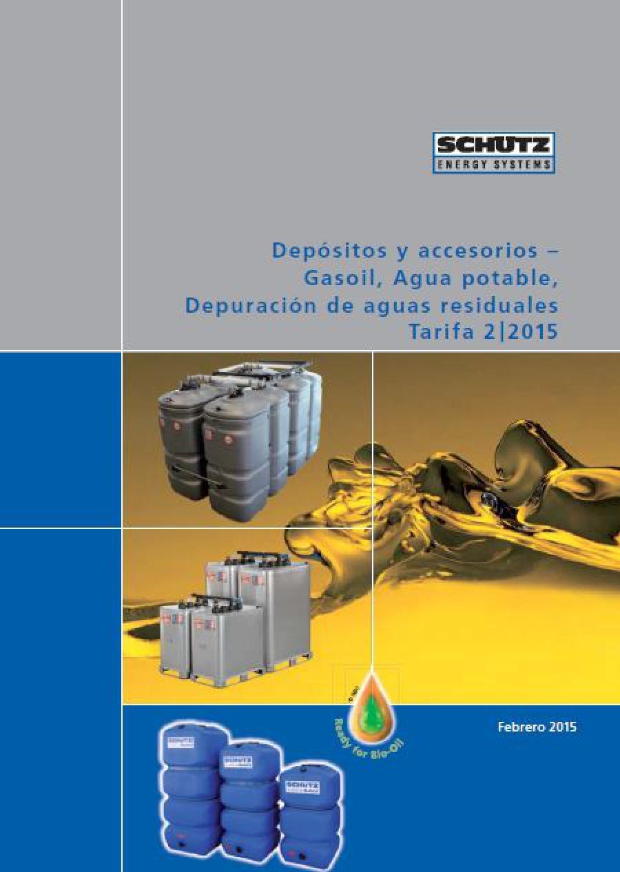 Tarifa Depósitos de gasoil y agua Schütz 2015