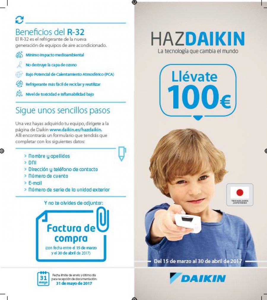 Ahorra 100€ con Aire Acondicionado Daikin